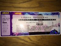 Leeds Carling Festival Saturday Day Ticket 27th Aug half p