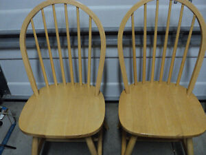 """CHAIRS!! (3)""""HONEY"""" COLOURED  ~ (2) ALL WOOD """"LIGHT COLOURED"""" Windsor Region Ontario image 5"""