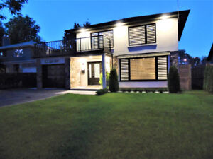 Fully Furnished 4B/4W House in Toroto ( 15m drive to Downtown)