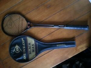 "High Grade ""BLACK MAX"" Dunlop Squash Racket and case"