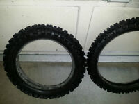 Dirt bike tires - $50 for the pair