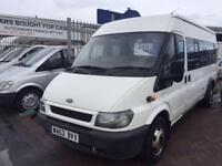 2004 53 FORD TRANSIT 17 SEATER MINIBUS WITH TACO FITTED LOVELY EXAMPLE DRIVE AWA