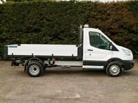 "2015 (65) FORD TRANSIT 350 RWD DRW L2 10'9"" ONE STOP DROPSIDE TIPPER PICK UP"