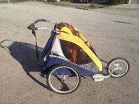 Chariot double jogging stoller w conversion kit