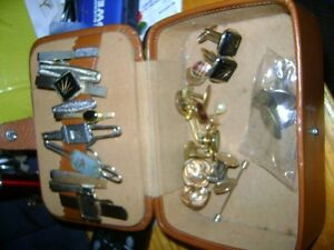 VINTAGE MENS TIE CLIPS & CUFF LINKS
