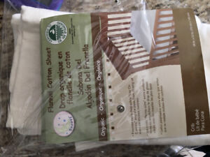 Organic flannel cotton fitted sheet for Crib