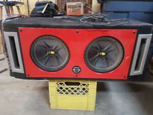 BassWorx twin sub box with subs and amp
