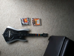Guitar hero Guitar, toggle (usb) and two games
