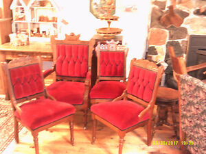 4 Professionally Reupholstered Victorian Chairs