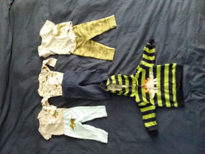 6 complete outfits boys 12 months