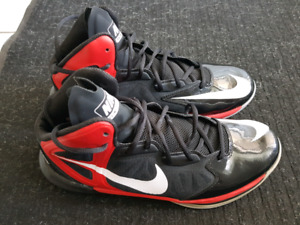 Nike Men's Prime Hype 2 DF Basketball Shoes Black/Red/Silver