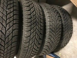 4 x Almost New Snow tires 205/60/16R with RIM