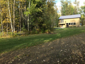 80 Acres with Log Home Between Westlock and Slave Lake