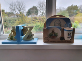 Peter Rabbit Bookends and Dinner Set