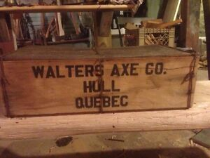 Walters axe shipping box
