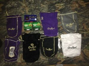 crown royal lot bags stocking + extras