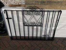Metal wrought iron driveway gates 8 foot opening.
