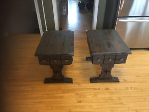 Rustic night stands/ end tables