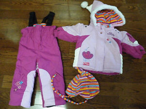 Girls matching snow suit