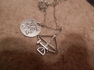 The Walking Dead Crossbow Necklace with Charm