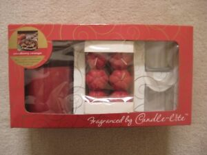 Candle-Lite Orange Cranberry Set/Holiday Candle Sets