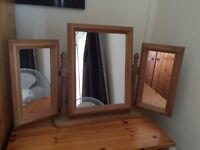 Wardrobe pine good cod , table top mirror pine ,