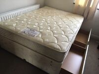 MYERS DOUBLD DIVAN BED WITH 4 DRAWERS/ FREE DELIVERY