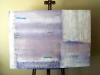 LAVANDER DREAM - Original Textured Abstract Painting - NEW