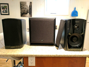 Audio: Definitive Tech Studio Monitors 55 + free KEF subwoofr