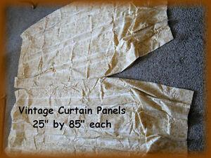 """Vintage PAISLEY Curtains / Drapes Panels ( 25"""" x 85"""" Each )"""