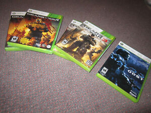 XBox 360 Games - Gears...3, Gears ... Judgment, Halo 3 - ODST, N