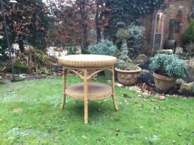 Circular cane table .....for conservatory ?