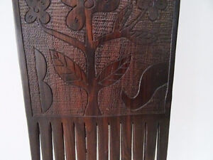 TRIBAL carved ebony COMB STYLE WALL HANGING designer piece Kitchener / Waterloo Kitchener Area image 4