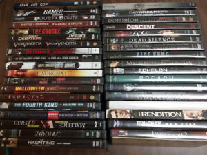 Action and horror DVDS