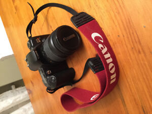 Canon EOS Rebel XS 35mm SLR Camera with 2 lenses