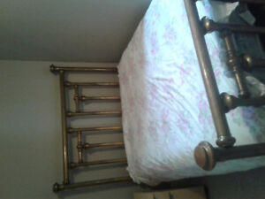 antique Solid double brass bed
