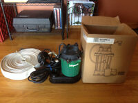 New old stock myers sump pump with fire hose