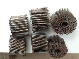 6 - RING SHANK WIRE COIL NAILS