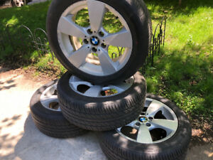 """BMW original Wheels (mags) & Tires (summer; almost new) - 17"""""""