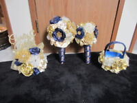 Gold and Navy Wedding Decorations