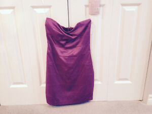 ****Fushia Strapless Dress (Satin)****Never worn