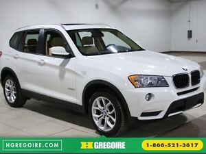 2013 BMW X3 28i X DRIVE AWD CUIR TOIT PANORAMIQUE MAGS