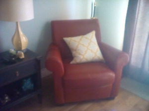 Two Red Club Chairs