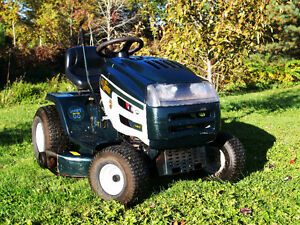 Snowblower attachment and chute for Yard Works lawn tractor