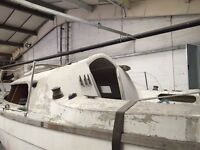 Yacht 24ft on cradle