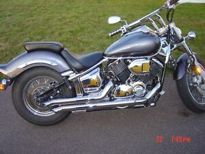 2005 V-Star Custom Charcoal Silver w/ Ghost Flames +  extras