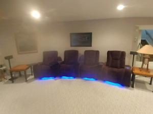 Home theater power reclining set
