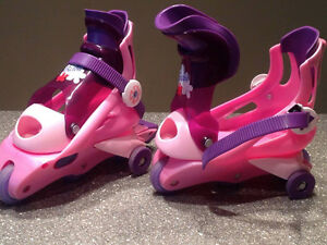 Girls Ice Skates and Roller Blades