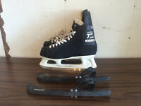 CCM Super Tacks size 9 1/2 - Barely used. Skate guards included