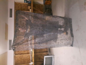 Grey Curtains 6 Ft Tall 2 panels --